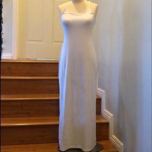 NWOT Faconnable BodyCon White Maxi Dress